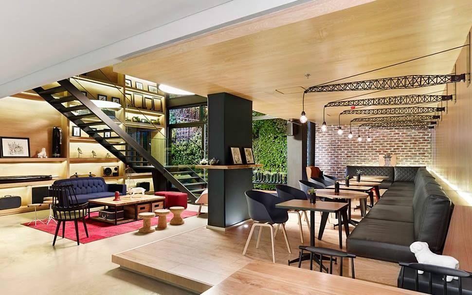 Ultra Cool Hotel Lobby Feels Like A Restaurant Lobby