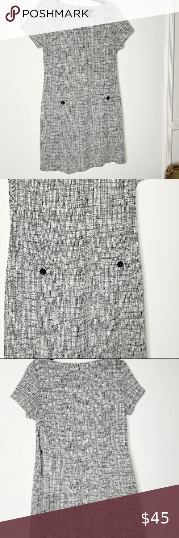 Tahari Black And White Dress Size 12 Nwt In 2020 Black N White Dress Black White Mini Dress White Dress [ 1740 x 580 Pixel ]