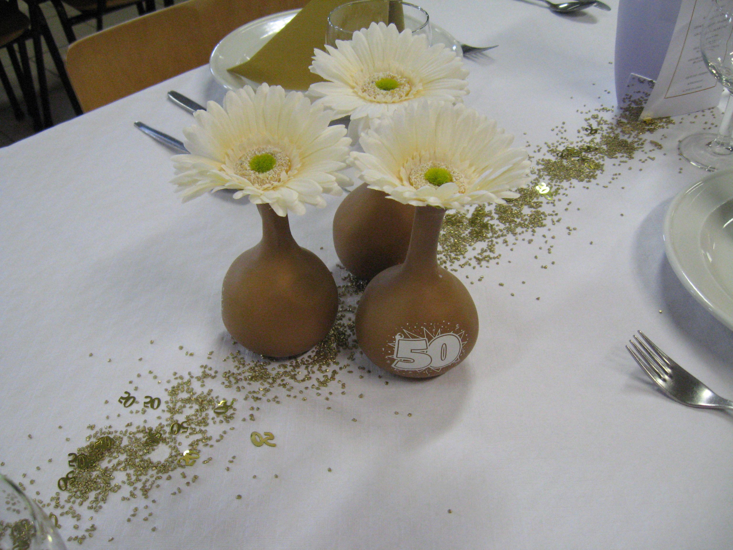 Tafelversiering voor gouden bruiloft ballonnetje gevuld for Ballonnen decoratie zelf maken