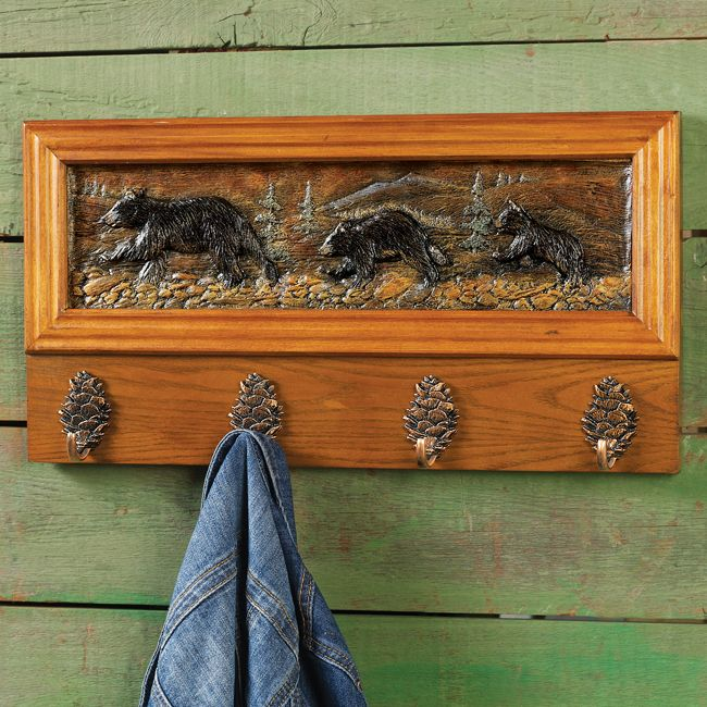 Log Cabin Decor Clearance Part - 14: Running Bears Coat Rack - CLEARANCE · Bathroom Towel RacksLog Cabin  InteriorsCabin DecoratingLog ...
