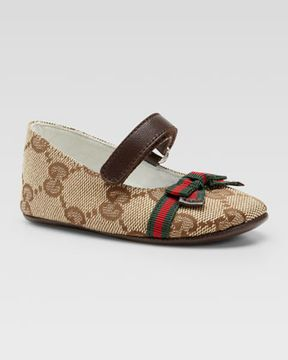 97fd2d762a9 shopstyle.com  Gucci Baby Marilyn GG Canvas Mary Jane Ballerina ...