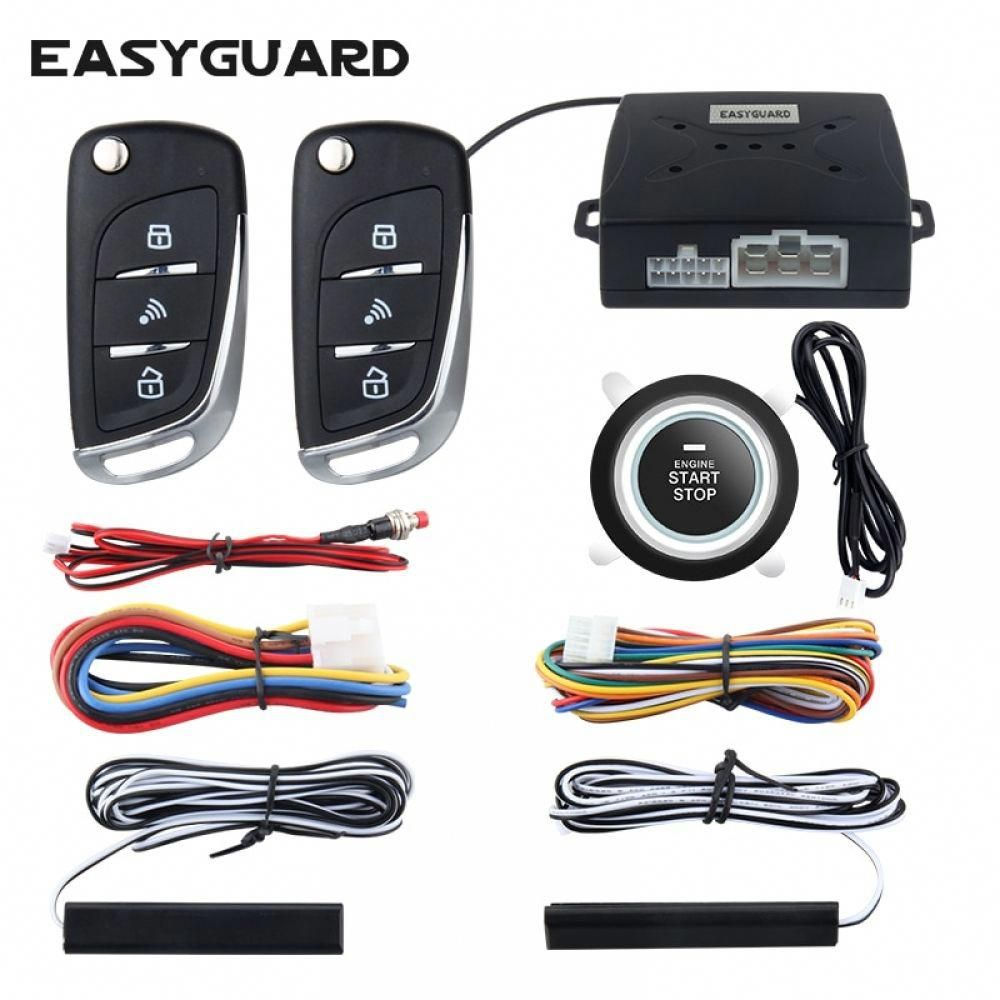 Easyguard security car alarm system with pke passive