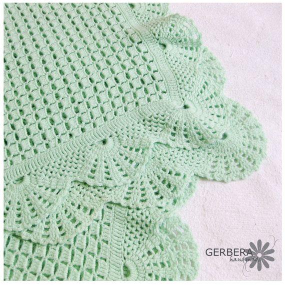 Olive Baby afghan crochet baby blanket soft by GerberaHandmade ...