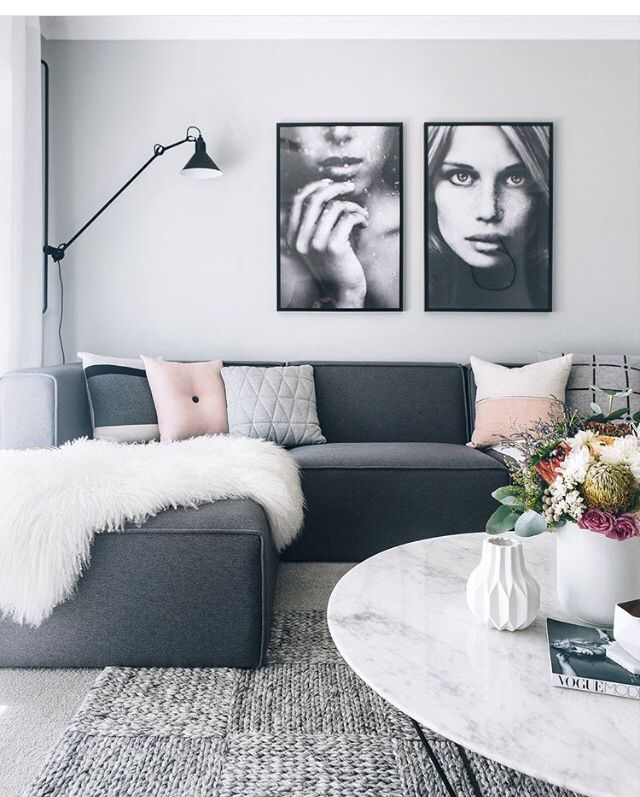 Pin By Cool Quirk On Furniture Dark Grey Couch Living Room Grey Sofa Living Room Gray Sofa Living