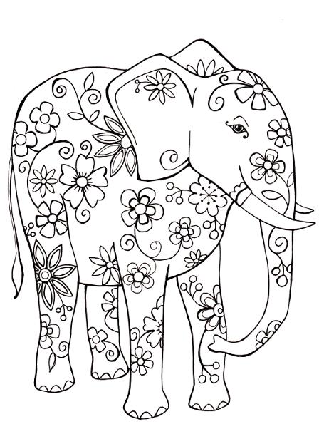 Free Coloring Sheet Elephant Coloringsheets Free Coloring Sheet Elephant Elephant Coloring Page Free Coloring Sheets Meditative Coloring