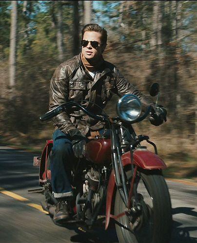 An Entry From Maja For Emma Forever Ago Brad Pitt Benjamin Button Brad Pitt Indian Motorcycle