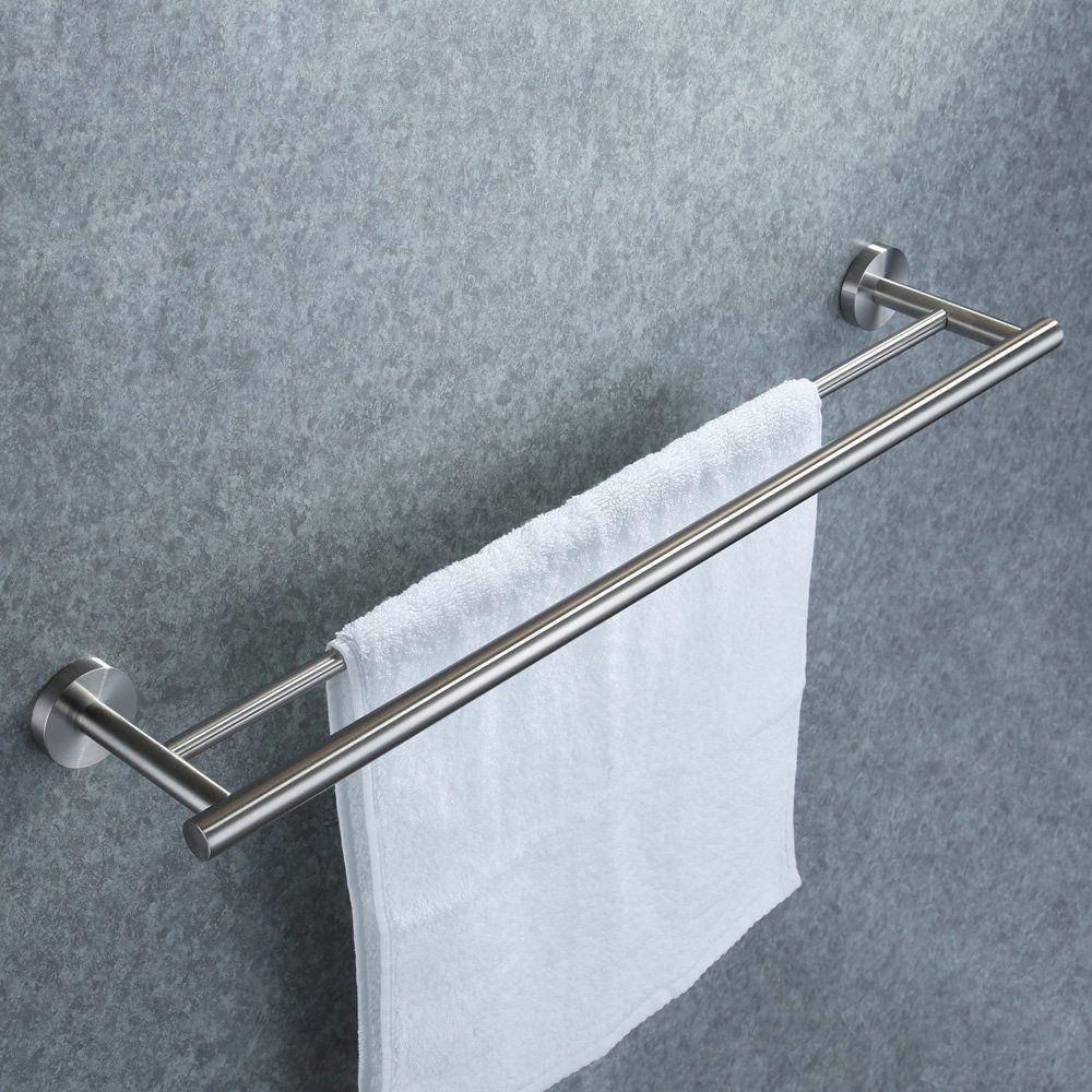 Amazon.com: KES 24-Inch Double Towel Bar Bathroom Shower ...