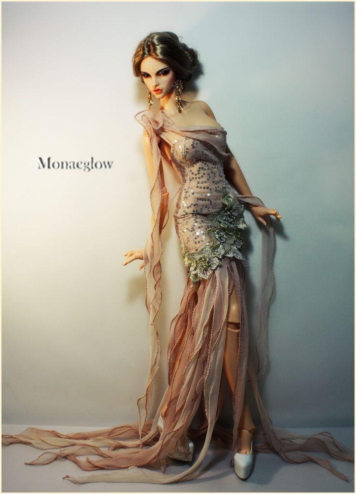 1//3 BJD 62-65cm female doll clothes outfit Iplehouse EID SID gothic dress set