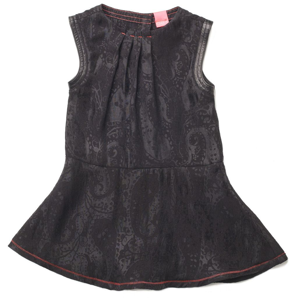 Alba Black Silk Jaqcuard Dress Kidswear Clothing for Kids CHaLK NYC