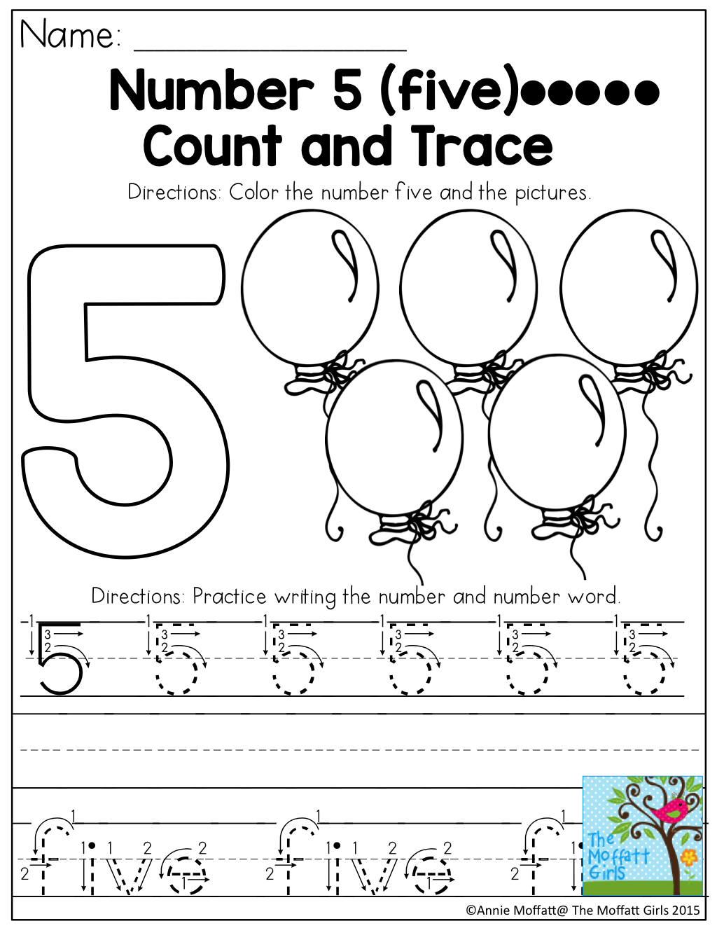 September No Prep Packet Preschool
