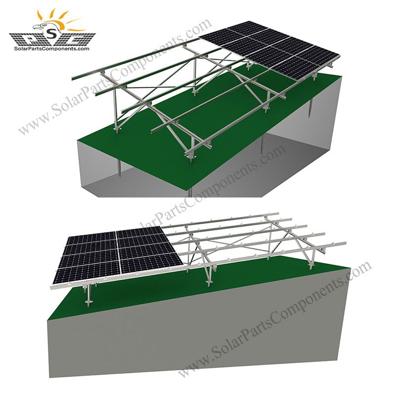 Solar Ground Mounting System On Slope in 2020 Solar
