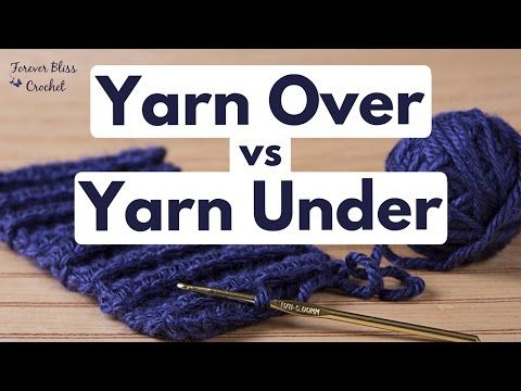 Haken Yarn Overyarn Under In De Achterste Lus Youtube Haken