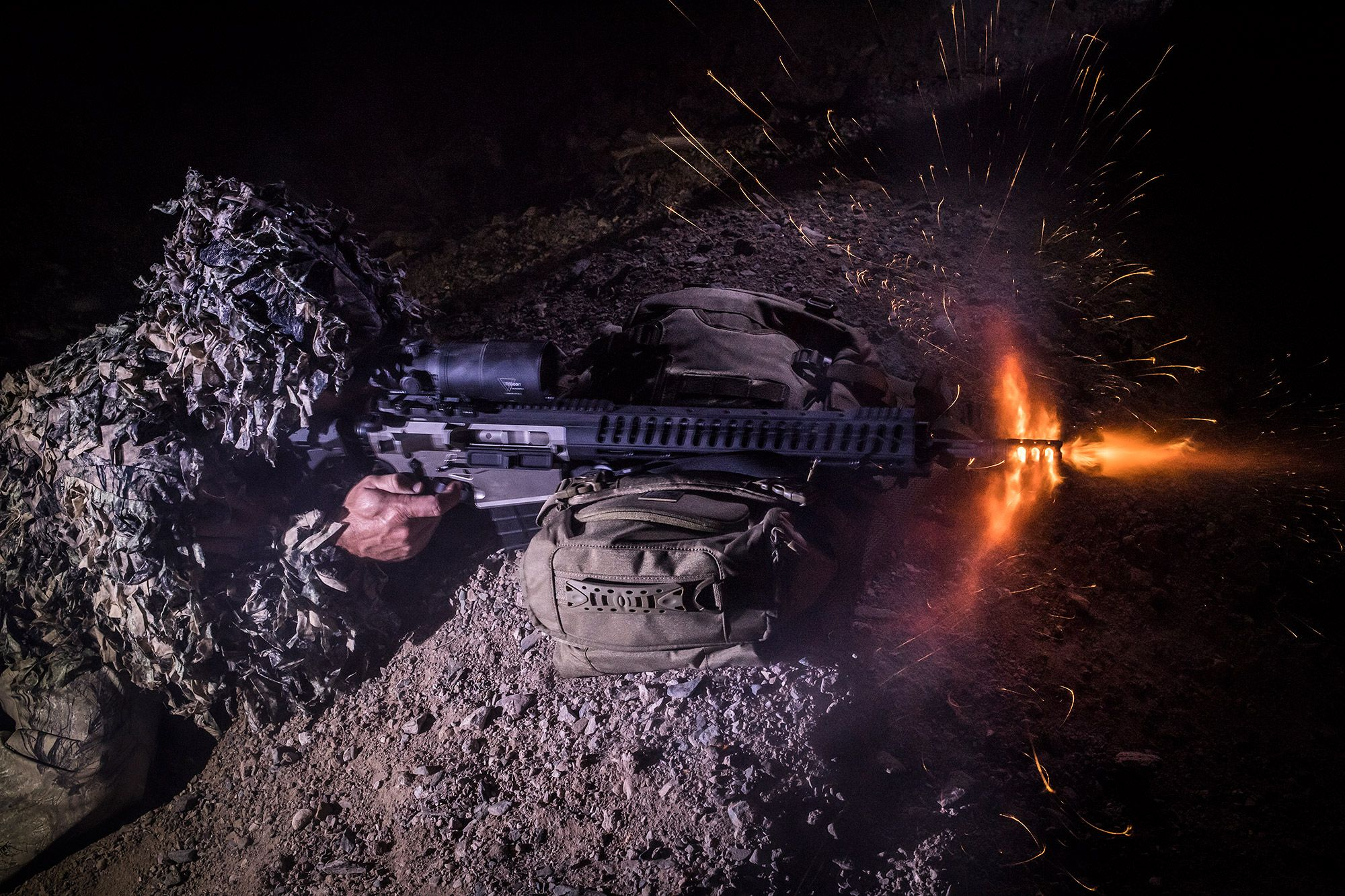 The IR-HUNTER in action. Checkout the thermal @ Trijiconeo.com #gun #thermal #nightvision #hunting #tactical #trijicon #guns #Nightvision