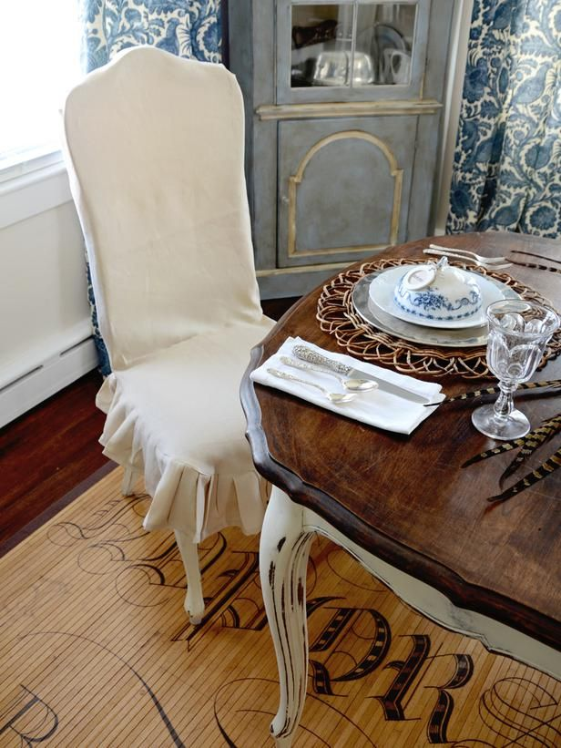 Dining Chair Covers For Home Futon Bed Target How To Make A Custom Slipcover The Decorating Garden Television