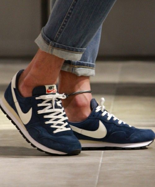 1f3c55cbb30ca NIKE Women s Shoes - NIKE air pegasus 83 pgs ltr sneakers Navy blue with  off white