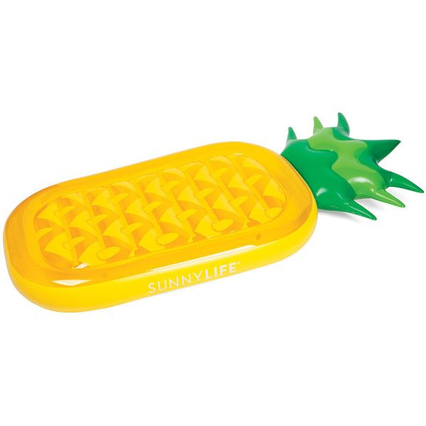 Sunnylife Luxe Lie-On Inflatable Pineapple ($60) ❤ liked on Polyvore featuring yellow