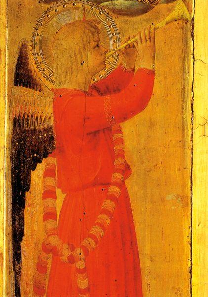 Fra Angelico: Engel mit Holztrompete