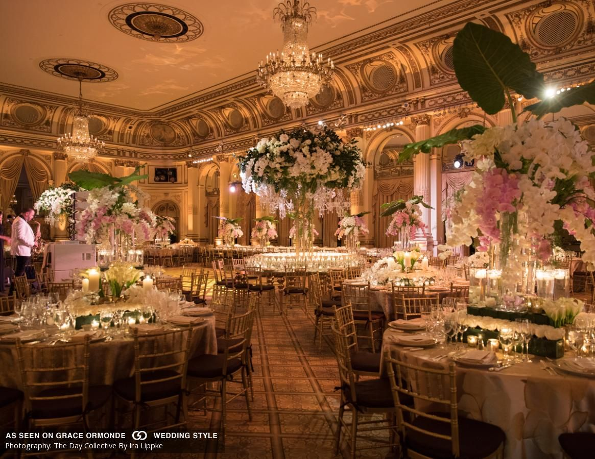 A classically elegant wedding at The Plaza Hotel in New