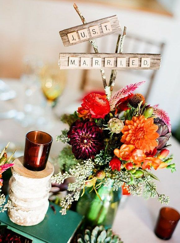Letras de scrabble para decorar tu boda wedding decor ideas - Scrabble decoracion ...