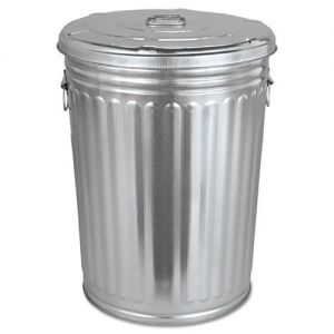 Magnolia Brush Pre Galvanized Trash Can With Lid Round Steel 20 Gal Gray Chicken Coop Designs Trash Can Metal Trash Cans