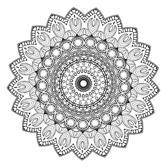 5 Free Printable Coloring Pages Mandala Templates Mandala