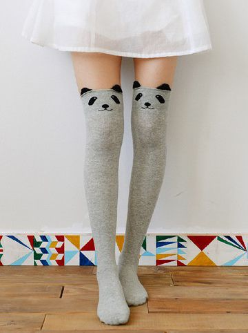 ebc5b89132cba ... Knee High Seamless Socks. Panda Strumpor - Talkingclothes, Kawaii,  Japansk Lolita, Smycken mm.