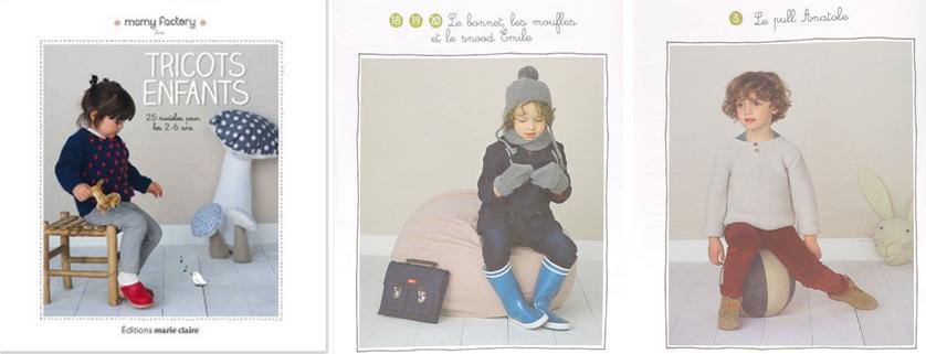 Livre - Tricots Enfants. 25 modèles issus de collections prêt-à-porter de Mammy Factory  à tricoter soi-même ! Gilets, robes, pulls et accessoires...autant de créations tendres et bohèmes qui habilleront à merveille les enfants cet hiver. Les mamies tricoteuses de Mammy Factory nous livrent leurs astuces pour que le tricot ne soit plus seulement qu'une affaire de grand-maman ! A partir de 15,90€ >>> http://www.perlesandco.com/Tricots_enfants-p-77151.html