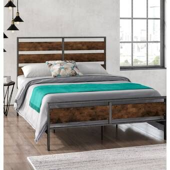 Best Berta Industrial Queen Standard Bed Panel Bed Bed 400 x 300