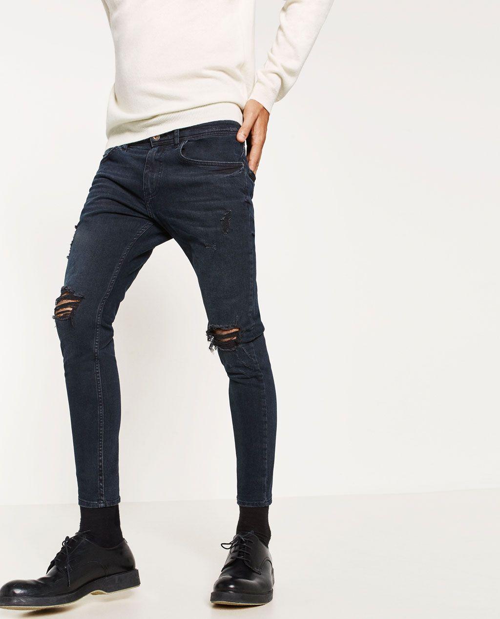 Tiran Yuruyerek Esitlik Pantalones De Mezclilla Zara Hombre Nightbarpacifico Com