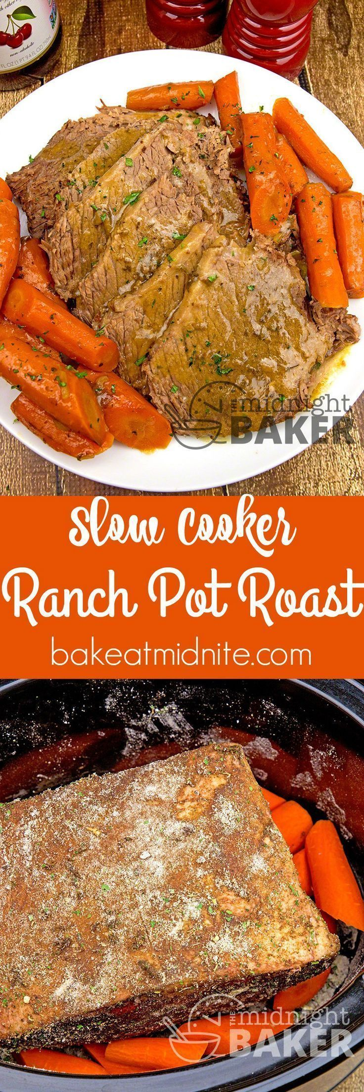 Slow cooker does all the work with this delicately ranch flavored pot roast! #easy #recipes #slowcooker #crockpot #slowcookercrockpots