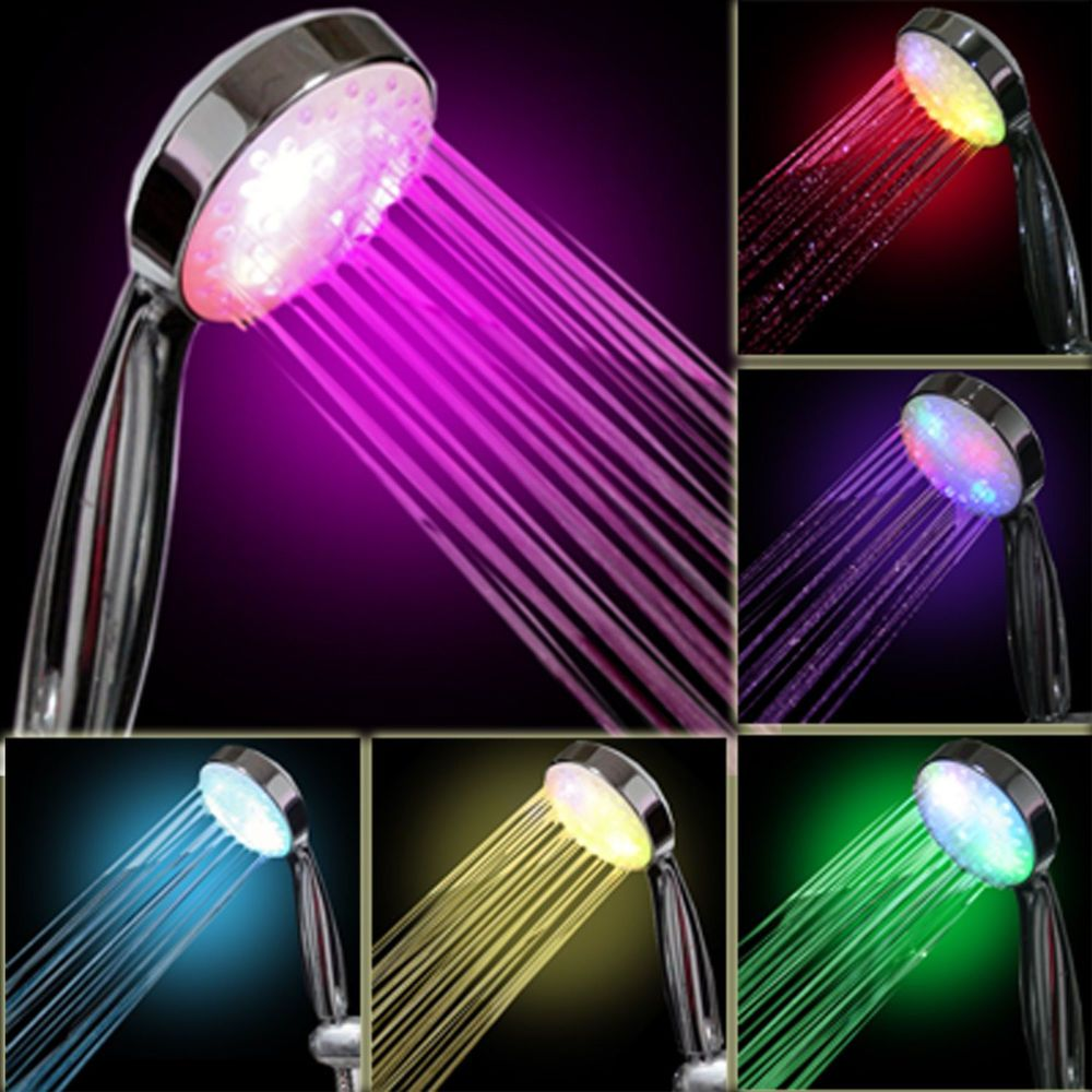 Shower Head Color Changing 7 Colors Light Led Bathroom Fun For Kids Fixture Led Shower Head