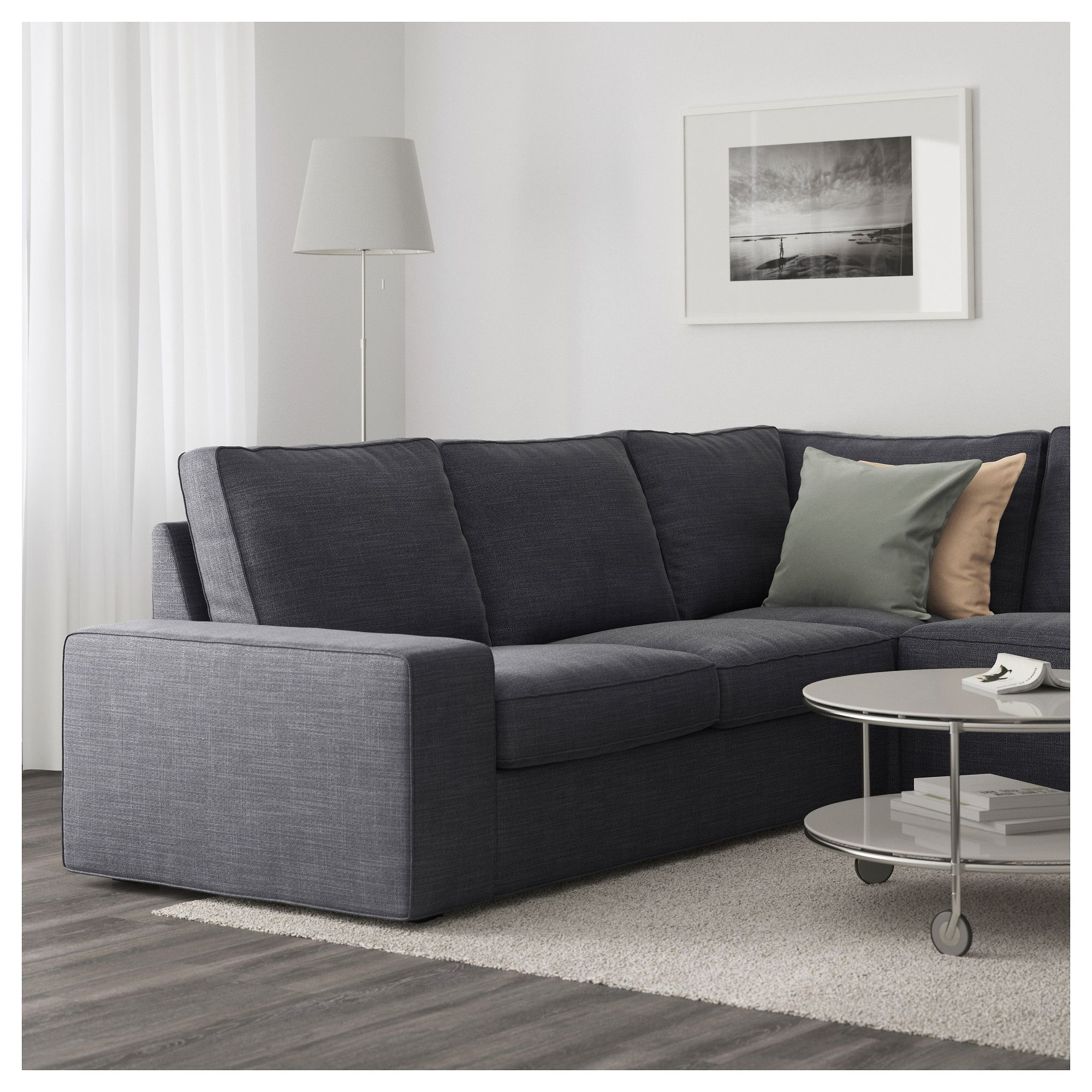 Charmant IKEA   KIVIK Sectional, 5 Seat Corner Hillared With Chaise, Anthracite