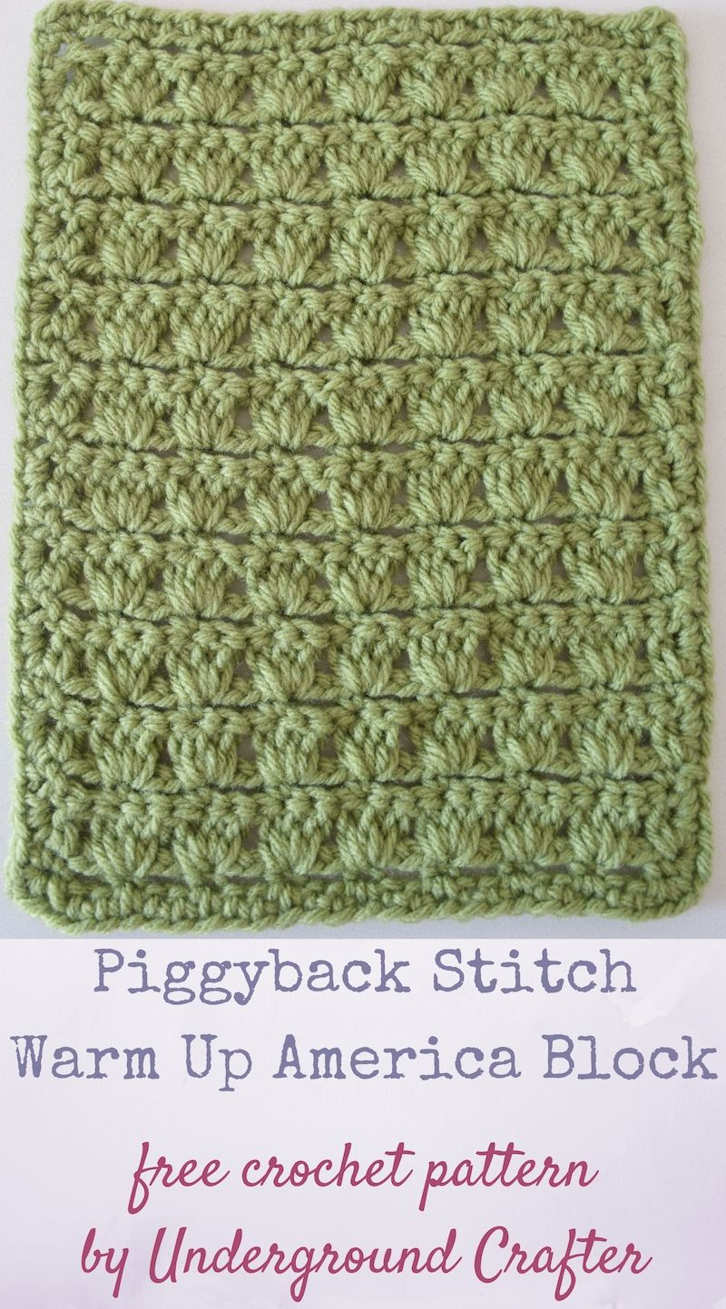 Crochet pattern piggyback stitch warm up america block free crochet piggyback stitch warm up america block free crochet pattern in loops and threads impeccable yarn dt1010fo
