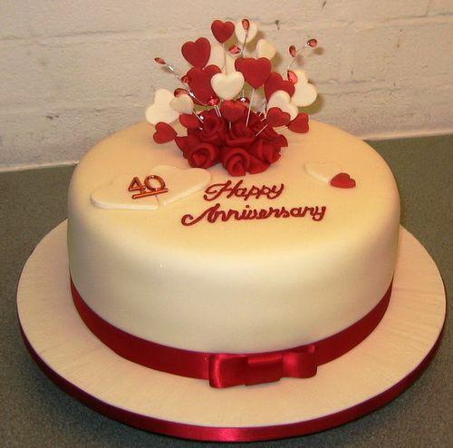 Wedding Anniversary Cakes Marriage Anniversary Cake 40th