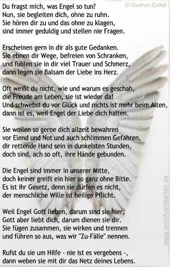 Pin Von Larissa Sch Auf Gedichte Engel Gedichte Sprüche