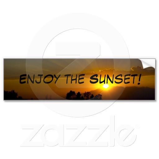 Enjoy the Sunset II Bumper Stickers from Florals by Fred