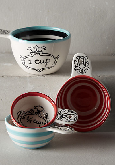 Beautiful Crowned Leaf Measuring Cups #anthrofave http://rstyle.me/n/tg4yebh9c7