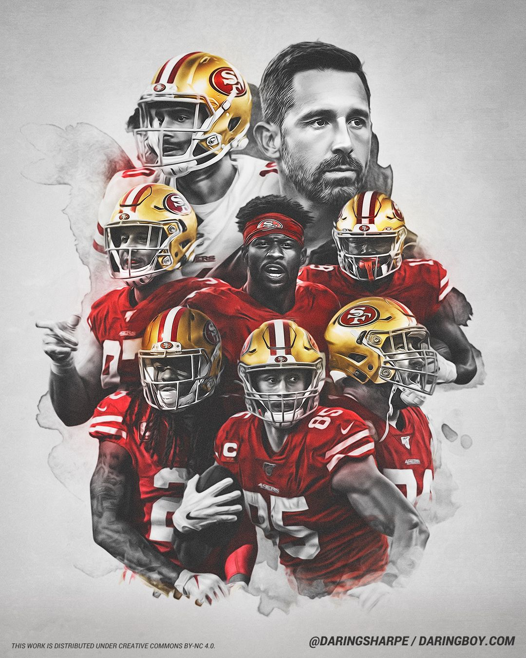 Kyle Shanahan Deebo Samuel Joe Staley Emmanuel Sanders George Kittle Richard Sherman In 2020 Nfl Football 49ers San Francisco 49ers San Francisco 49ers Football