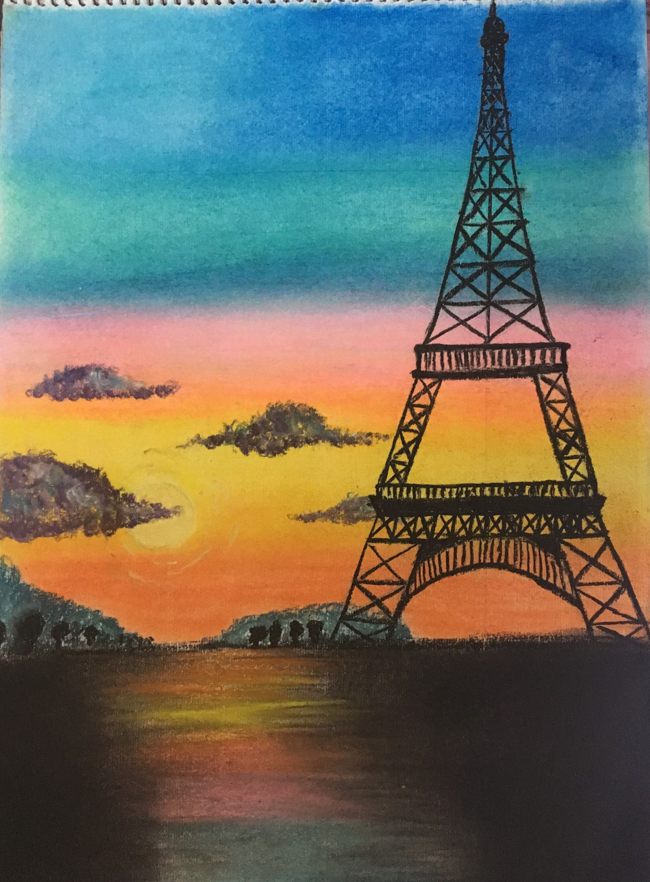 Pin By Richa Gupta On Misc With Images Paris Painting Eiffel
