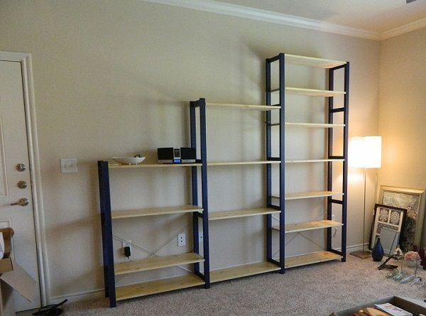 ikea ivar shelves review craft room organization. Black Bedroom Furniture Sets. Home Design Ideas