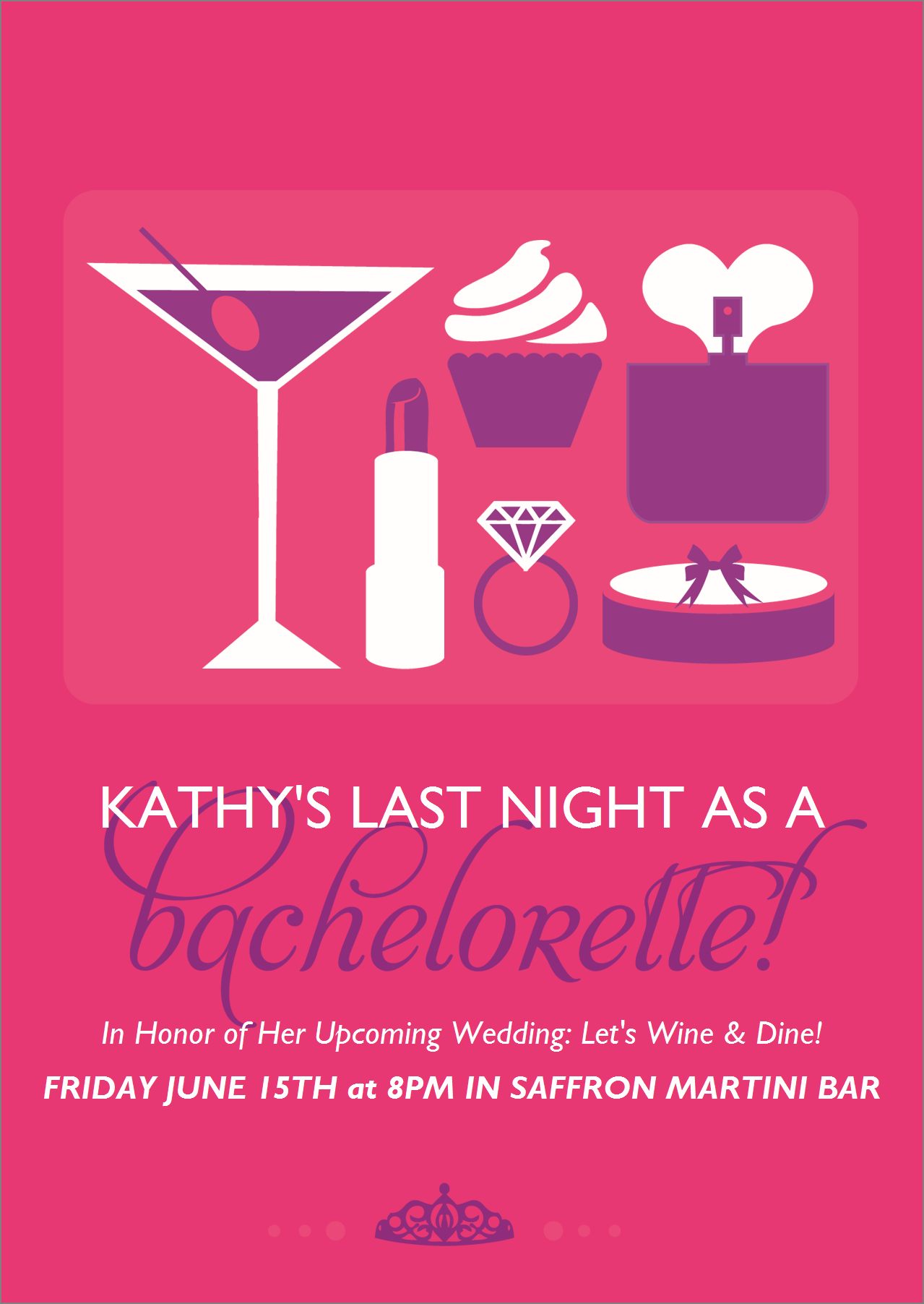 Flat Standard Invitation - Girl\'s Night Out | Bachelorette Party ...