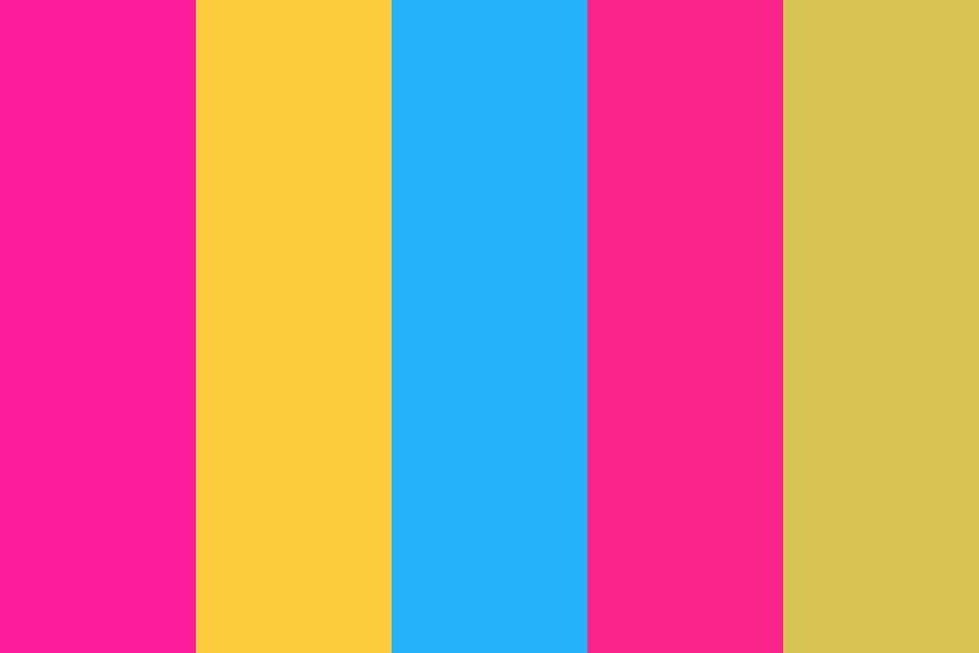 Pan Flag Color Palette Pan Flag Flag Colors Color Palette