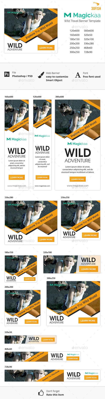 Magickaa Wild Travel Banner Template #design Download: http://graphicriver.net/item/magickaa-wild-travel-banner/12120035?ref=ksioks