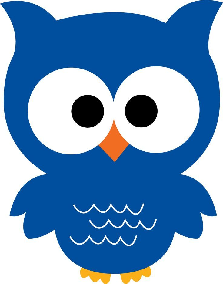 Cute Colorful Blue Owl owl on pinterest owl clip art, pink owl and