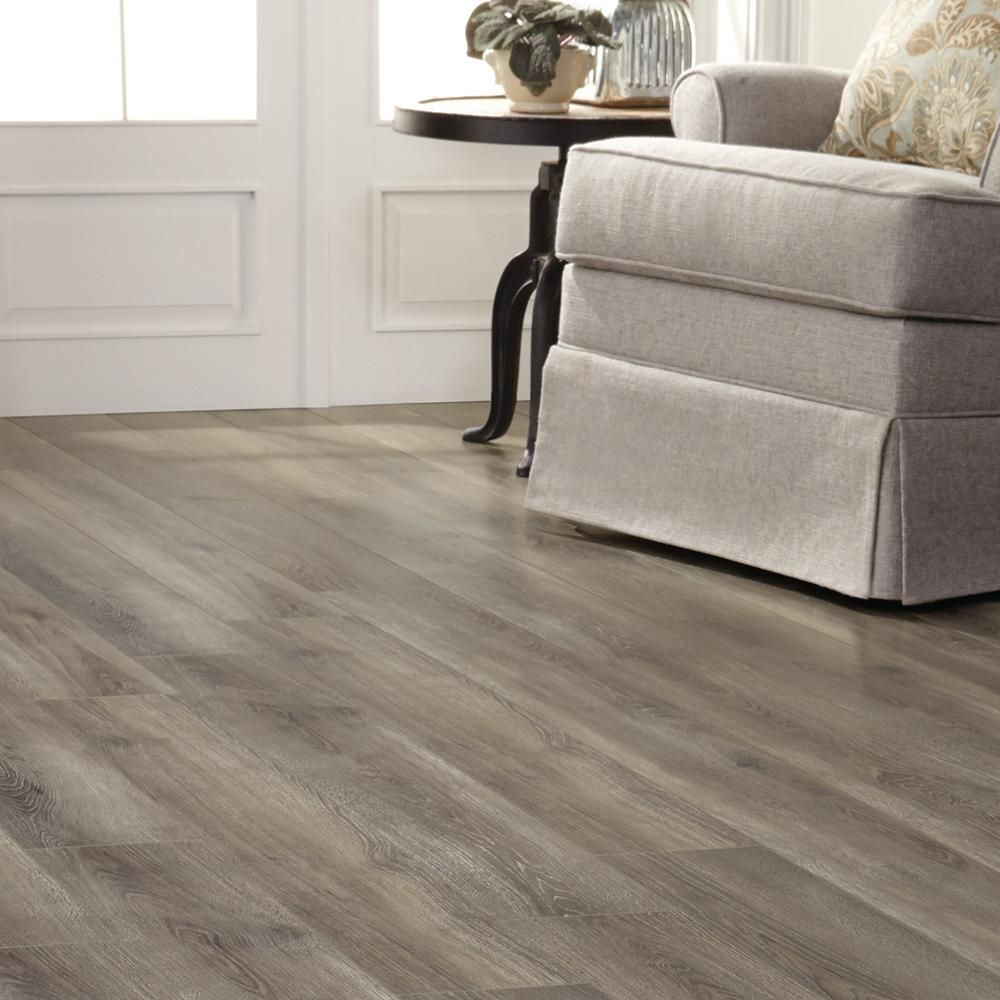 Trafficmaster Alverstone Oak 8 Mm Thick X 6 1 8 In Wide X 47 5 8 In Length Laminate Flooring 20 32 Sq Ft Case 368431 00310 The Home Depot In 2020 Oak Laminate Flooring Flooring House Flooring