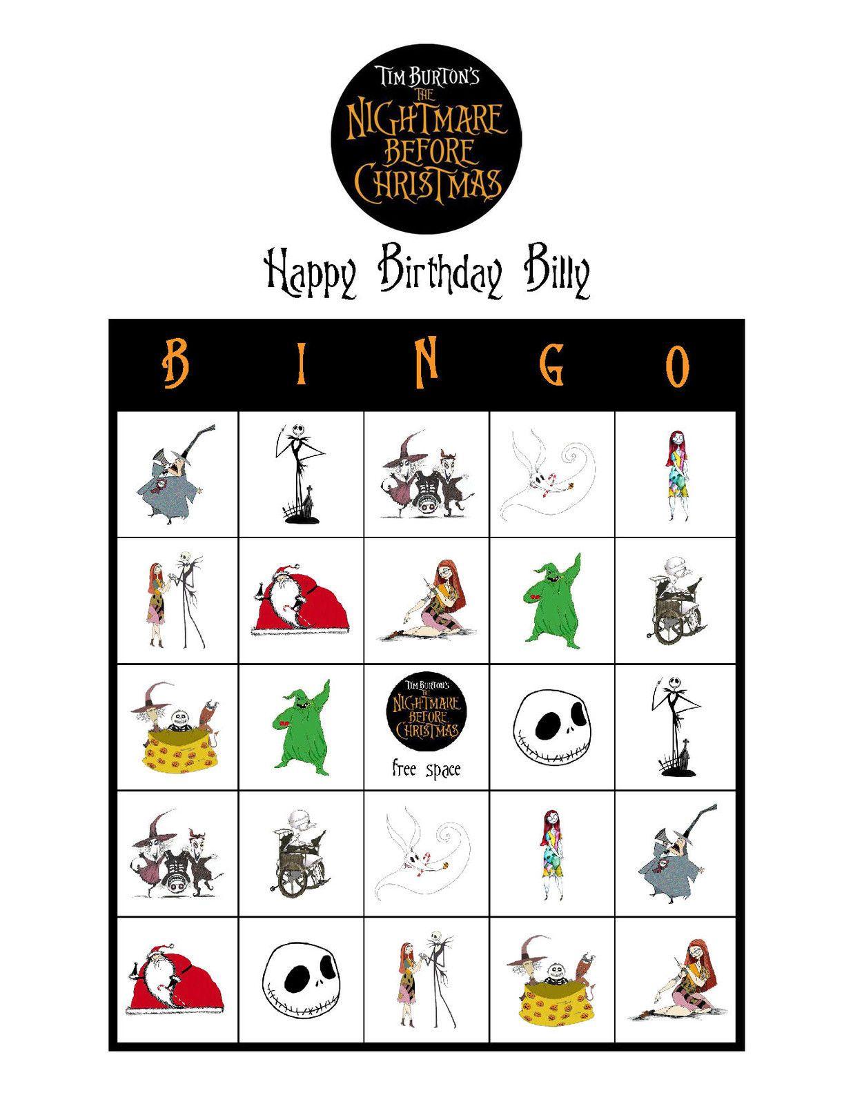 Tim Burton\'s The Nightmare Before Christmas Birthday Party Game ...