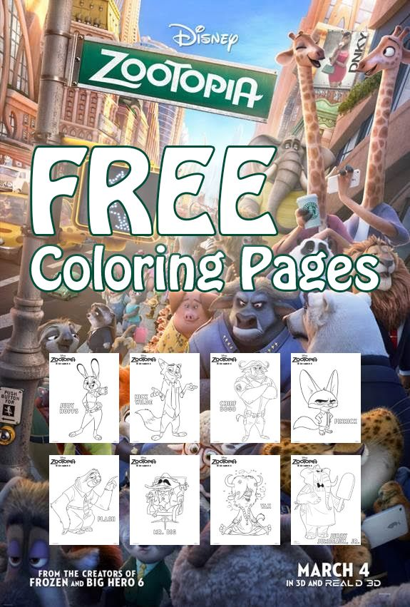 Utah Sweet Savings FREE Disney Zootopia Coloring Pages