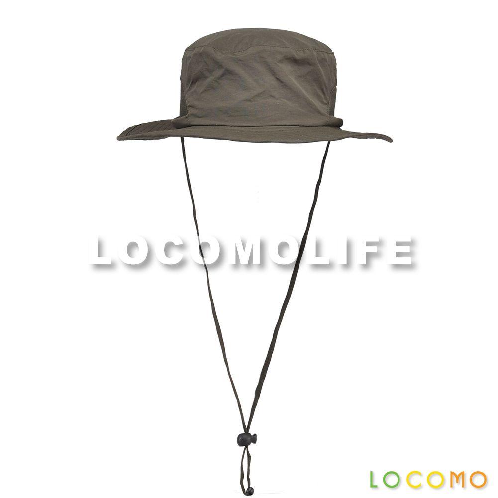 Plain Color Mesh Hiking Sun Bucket Hat Brim Neck Strap Green ... 151aa53de98c