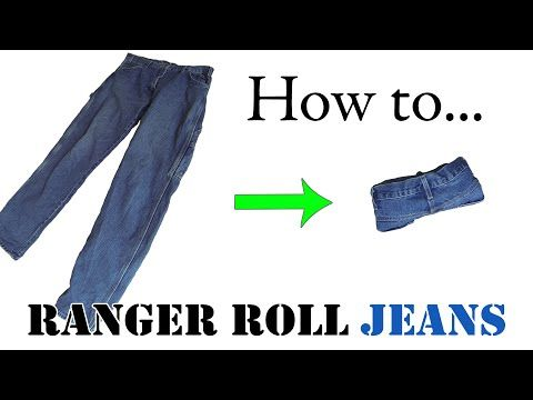 Army Packing Hack: How to Ranger Roll Jeans - Efficiently Folding Clothes for Travel - YouTube