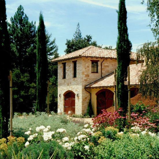 Mediterranean Tuscan Style Home House: Italian Style. I Like The Mix Of Italian